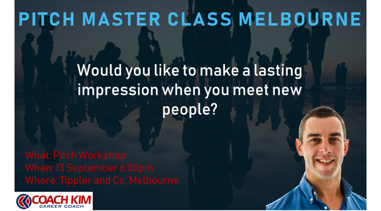 Pitch Master Class. 6:30pm 13 September